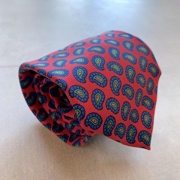 Polo Spring Colored Paisley Silk Tie